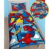 New Spiderman Wende Bettbezug/Quilt Betten Set Kids Jungen Mädchen, Spiderman Webhead, Einzelbett