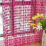 RAMCHA Dark Pink Heart String Curtain
