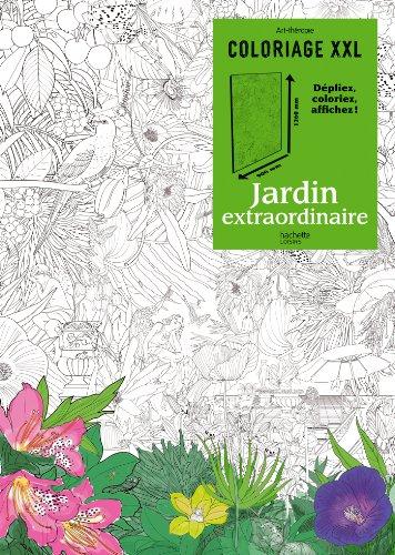 Coloriage XXL Jardin extraordinaire