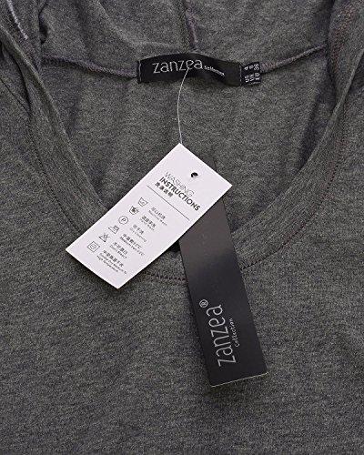 ZANZEA Donne Sexy Cotone Manica Lunga Slim Tops Camicie Camicetta Manica Lunga