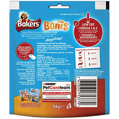 Bakers-Mini-Bones-Dog-Treat-Chicken-94-g-Pack-of-6