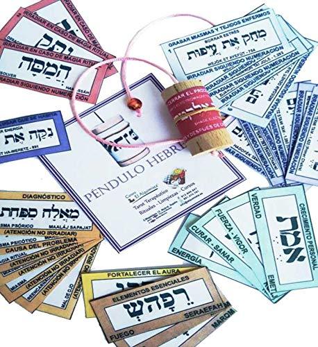 PENDULO HEBREO, con instrucciones y tarjetas