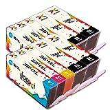 Ilooxi 10x Druckerpatronen kompatibel für HP 364 XL HP 364XL für HP Photosmart 5510 5511 5512 5514 5515 5520 5522 5524 6510 6520 6512 6515 7510 7520 7515 B8550 B8558 C5370 C5373 C5324 C6388 D5460 D5463 B110a B110c B010a B010b B111a B109a B109b C309a C309c B209a B210a HP Deskjet 3070A 3520 3522 HP Officejet 4620 4622 4610 (4x Schwarz, 2x Cyan, 2x Magenta, 2x Yellow)