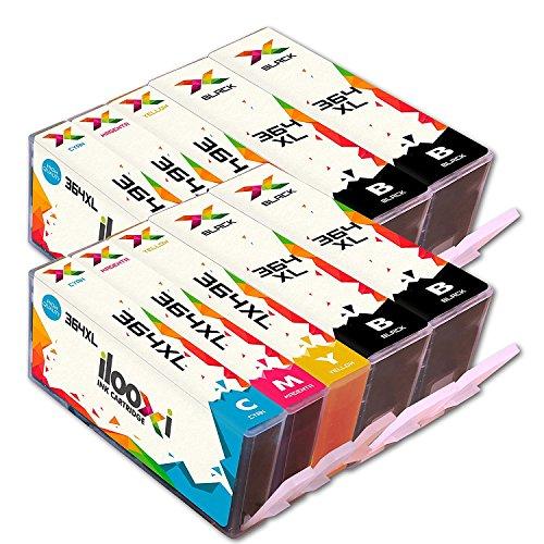Ilooxi Kompatibel HP 364XL Druckerpatronen mit Chip zu HP Photosmart 5510 5511 5512 5514 5515 5520 5522 B8550 C5324 C5370 C5373 C5383 HP Deskjet 3070A (4 Schwarz,2 Cyan,2 Magenta,2 Gelb)