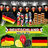 Murago Fan-Set 43 Teilig Deutschland Deko XXL EM WM Fanartikel Fanpaket Fußballparty Germany