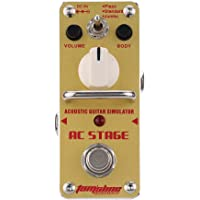 AROMA AAS-3 AC Stage Acoustic Guitar Simulator Mini Single Electric Guitar Effect Pedal with True Bypass