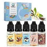 Ciberate® 5 x 10ml Premium E-LIQUID-BOX, Vanille E Liquids Set für E Zigaretten/E Shisha, E Liquids ohne Nikotin(5 Stück) (Vanille Paradies)