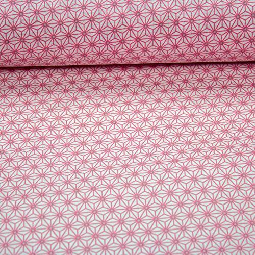 Brittschens Stoffe und Zutaten Stoff Beschichtete Baumwolle | Luna Stern rosa | Stoff zum nähen | Meterware | Wachstuch