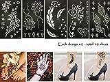 Henna Tattoo Plantilla Plantilla 10Sheet Minna