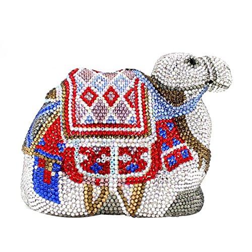 Camel Forma Delle Donne Di Cristallo Del Strass Moda Frizione Borse Sacchi Per Il Matrimonio E Festa Serale OneColor