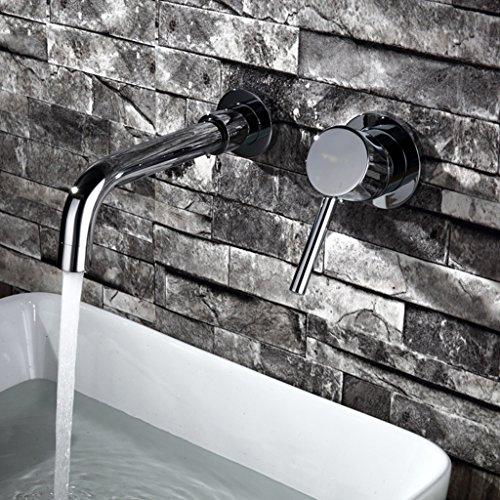 Tout cuivre chaud et Bassin d'eau froide Robinet de bain Lavabo dans le robinet mur Bathroom Faucet Basin contre
