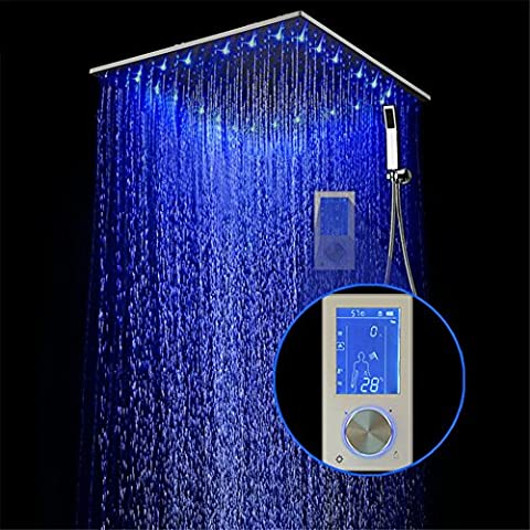 Modylee Pantalla digital inteligente Set de ducha de lluvia se instala en la pared 2 Jets LED 24 ntelligent Digital Display Rain shower set is installed in the wall 2 Jets LED