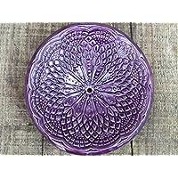 Keramik Seifenschale rund Lila