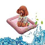 Aolvo Kühlmatte für Hunde/Katzen/Tier, Sommer Kühlung Weiches Hundebett Pad für Hund Katze Puppy Rutschfeste Nicht Box Bett cushison Matte – Selbstkühlender & Atmungsaktives Material Cozy Cuddler