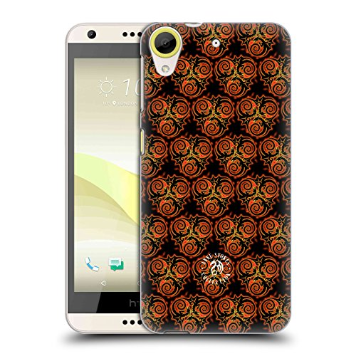 Official Anne Stokes Triple Dragon Pattern Fire Tribal Hard Back Case for HTC Desire 650