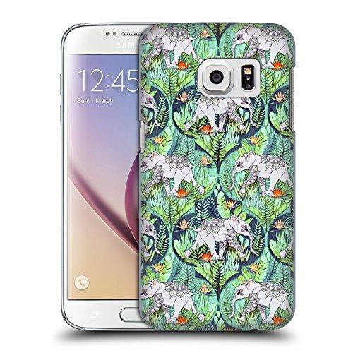 Head Case Designs Offizielle Micklyn Le Feuvre Baby Elefant Und Dschungel-Abenteuer Tiere Ruckseite Hülle für Samsung Galaxy S7