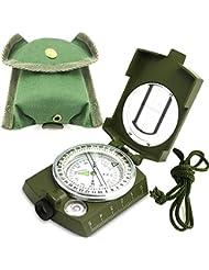 Kompass Wasserdicht Wandern Militär Navigation Kompass mit Fluoreszierendem Design, Perfekt für Camping Wandern und andere Outdoor-Aktivitäten