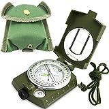 Militär Marschkompass Professioneller Taschenkompass Peilkompass Kompass Compass mit Klinometer Tragschlaufe Tasche für Jagd Wandern und Aktivitäten im FreienProster