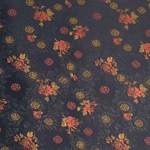Wrapables Langlebigkeit Satin Brokat Deko Papier, schwarz/rot, Set von 3 -