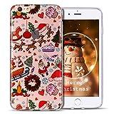 Cover iPhone 6 Case iPhone 6S Custodia Spiritsun Soft TPU Christmas Case Cover Bling Bling Case Elegante Flexible Natale Regalo Phone Cover Case Per iPhone 6 / 6S (4.7 Pollici) - Parco a tema di Natale