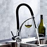 Robinet de lavabo robinet du réservoir d'eau chaude et froide télescopique pleine de cuivre robinet rotatif