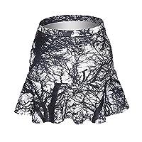 Funny Skirts Company© Printed Mini Skirt Frills Skirt 3D Print/Motive/Design One Size XS-L Women's Girl's Spring Summer 2017 (TREES 30988)