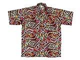 Ontop-Fashion Hawaiihemd Hawai Freizeit Hemd Shirt Viskose rot Mexico Ornamental, Größe:XXL