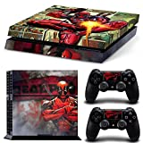 PS4 Console Deadpool Cover Vinyl Skins Custom Sticker Faceplates Full Decals For Playstation 4 and Controllers