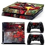 Consoles Ps4 Best Deals - PS4 Console Deadpool copertura in vinile Pelli Adesivo Placche decalcomanie personalizzate complete per PlayStation 4 e controllori