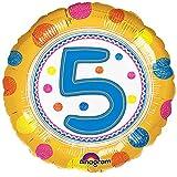 Anagram 46cm SpotOn Alter runder Folien Ballon (5) (Gelb)