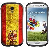Graphic4You Español Bandera España Vintage Grunge Diseño Flexible Antichoque Antideslizante Carcasa Funda para Samsung Galaxy S4