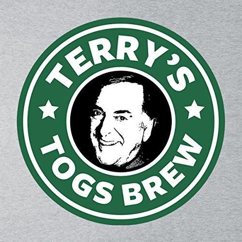 Terry Wogans Togs Brew Starbucks Logo Women's Vest Heather Grey