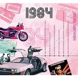 1984 Geburtstag Geschenken - 1984 Chart Hits CD und 1984 Geburtstagskarte