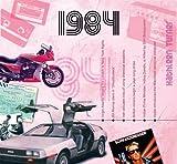 Geschenkidee Bücher - 1984 Geburtstag Geschenken - 1984 Chart Hits CD und 1984 Geburtstagskarte