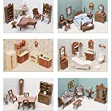 Greenleaf Doll Houses 6 Room Furniture S...