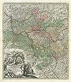 Historische Karte: UNTER FRANKEN 1707 (Plano): Frankfurt - Darmstadt - Heidelberg