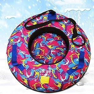 Evin Snow-Tube Schlitten 70cm Aufblasbare Schneerohr mit Griff Schwer Frostschutz- Winter Kinder Erwachsene im Freien Ski Supplies