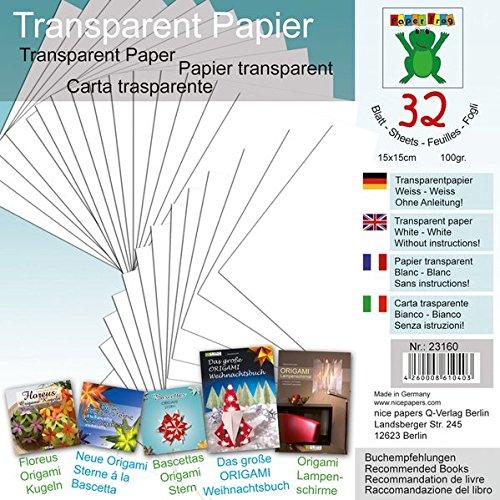 """Transparentpapier Weiß 15 x 15 cm: Material für Festliche Fenstersterne zur Advents- und Weihnachtszeit Nr. 2\"""""""