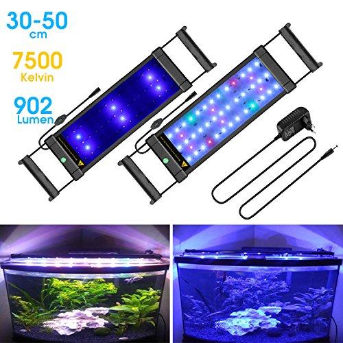 BELLALICHT Aquarium LED Beleuchtung Aquariumbeleuchtung Weiß Blau Rot Grün (Beleuchtung 30 Cm Aquarium)