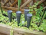 Kleine Pflanztöpfe Deko-Tüten, 4 Stück Windlicht, Zinkblech, grau