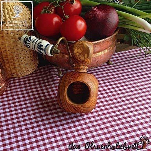 Das Olivenholzbrett Nußknacker mit Schraubgewinde