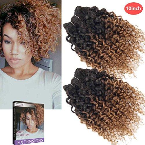 Emmet 10 pollice extension capelli veri ricci corto umani brasiliani naturali ondulato remy kinky curly donna afro 50g/pezzo 2pezzo(i)/pacco