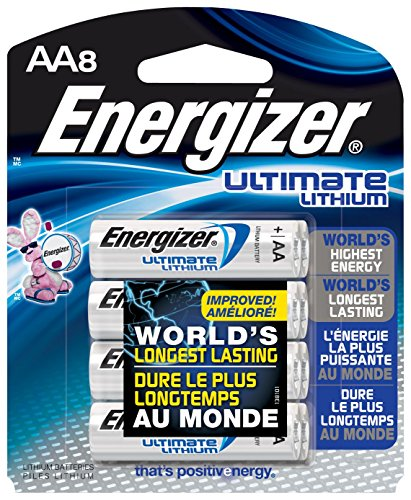 Energizer E2 Photo Lithium Batterien (E? Lithium Batteries, AA, 8 Batteries/Pack, Sold as 1 Package)