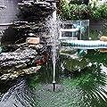 Solar Springbrunnen , Mixigoo Solar Teichpumpe Brunnen mit 1.4W Monokristalline Solar Panel Solarpumpe Solar Wasserpumpe Solar schwimmender Fontäne Pumpe für Gartenteich, Fisch-Behälter, kleiner Teich von mixigoo auf Du und dein Garten