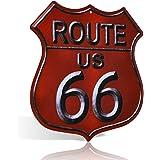 Cartel de metal de la ruta 66, estilo vintage, rústico, para decoración de pared