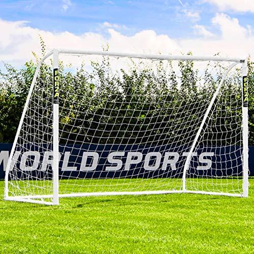 Net World Sports Forza - wetterfestes Match Fußballtor 3 x 2 m (3m x 2m Forza Match Fußballtor)