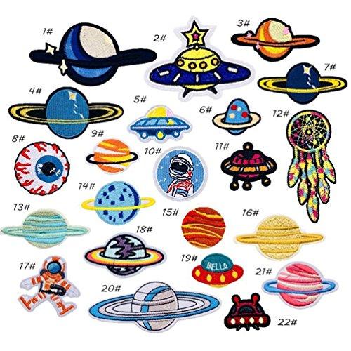 Bella 22pcs Parches Apliques Patches Sticker Parche