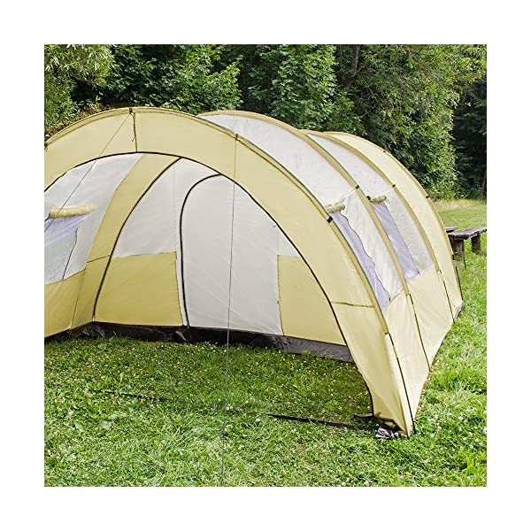 TecTake 800588 XXL Camping Tunnel Tent with Foyer 4-6 persons 6