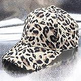 GHUKI Chapeau Nouvelles Chapeaux d'hiver de Femmes léopard Casquette de Baseball féminin Vintage Hip Hop Soleil Casquette Accessoires de Mode