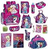 Disney die Eiskönigin Schulranzen-Set 20-TLG. Sporttasche, Federmappe Regenschutz Frozen